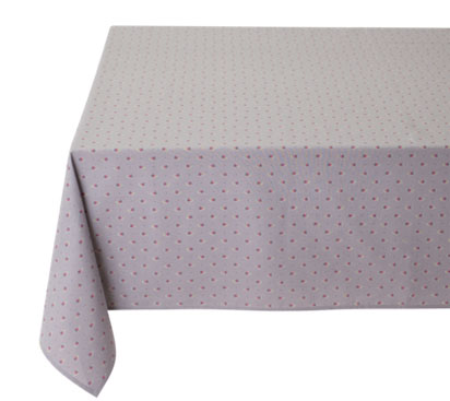 Coated tablecloth (Marat d'Avignon / Avignon. grey x rose)